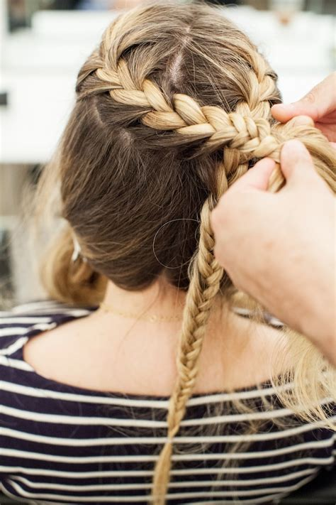 how to do khaleesi braids hair tutorial game of thrones braid the stripe