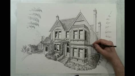 how to draw houses how to draw a house house portrait in 90 seconds by eli