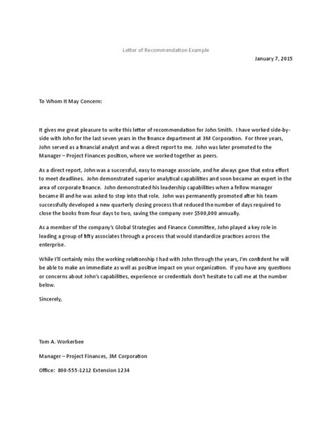 Recommendation Letter For Employee From Manager Pdf recommendation letter templates 8 free templates in pdf