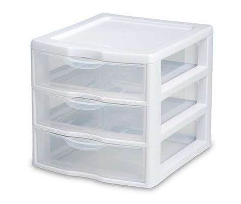 6 sterilite 20738006 small compact countertop 3 drawer