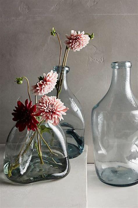 Agréable Idee De Deco De Table Pour Noel #6: Joli-deco-vase-transparent-gris-comment-decorer-avec-une-vase-avec-fleurs.jpg