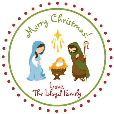 christmas baby jesus party for kids nativity sticker baby jesus gift tag