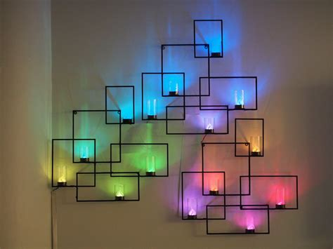 Wall Sconces With Hidden Weather Display And Tangible User Light Displays