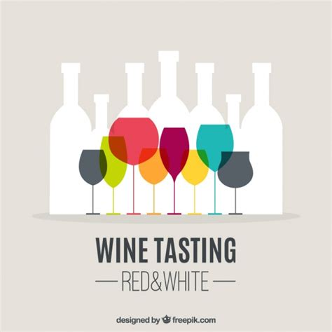 wine vector wine tasting background vector free
