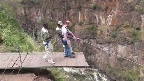 vic falls gorge swing gorge swing in victoria falls zimbabwe youtube