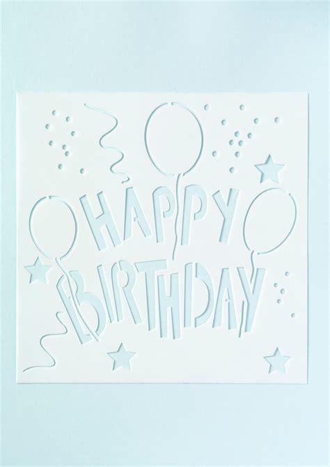 printable birthday stencils best photos of happy birthday cake stencil happy