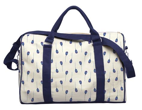 flower pattern luggage blue floral patterns printed canvas duffle luggage travel