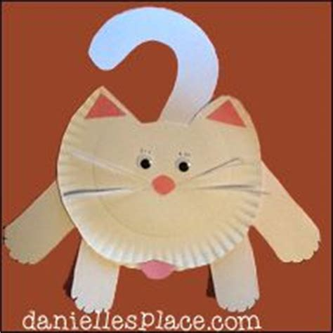Paper Plate Cat Craft - hanging around paper plate cat craft from www