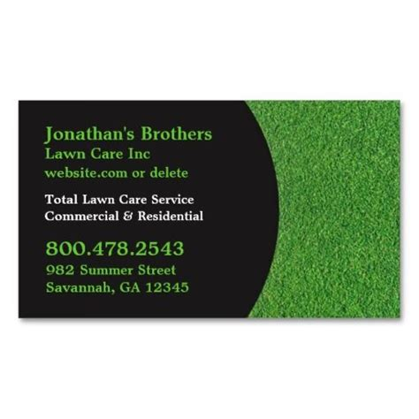 lawn care business cards templates free lawn care business cards