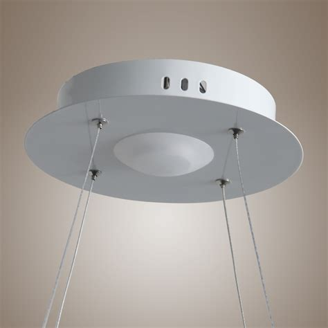 light fixture ring modern rings chandelier ceiling light pendant
