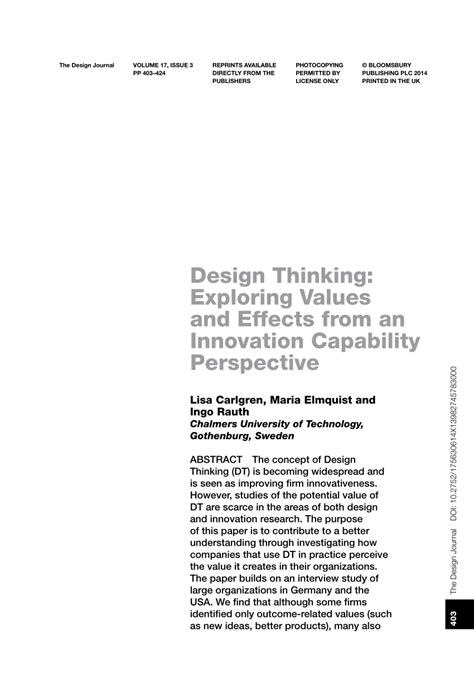 design effect values design thinking exploring values and pdf download