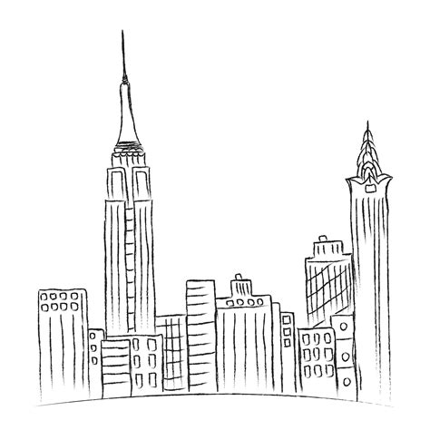 Sketches New York by New York City Sketch Vector By On