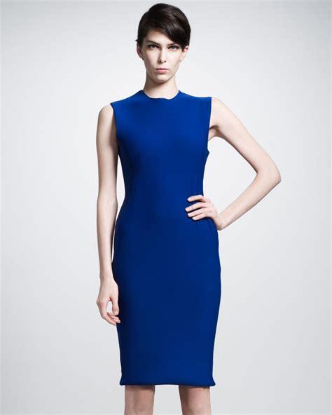 Dress Ruffle Blue lyst lanvin ruffle back dress in blue