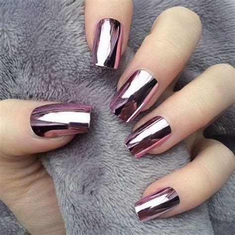 nail art  winter nail designs winter chrome nails