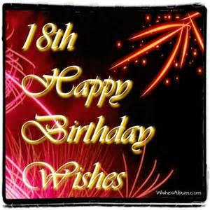 18th birthday wishes wishes album