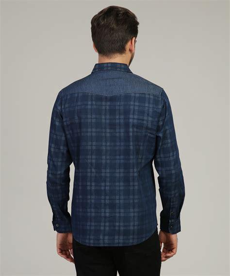 Shoulder Plaid Shirt plaid woven shirt with shoulder detail projek