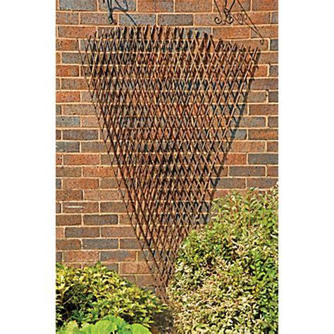 Homebase Garden Trellis Rustic Willow Fan Trellis 1 8m X 0 9m
