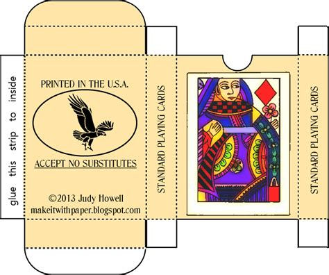 Uspcc Custom Cards Template by Make It With Paper Free Printable Craft Card Box