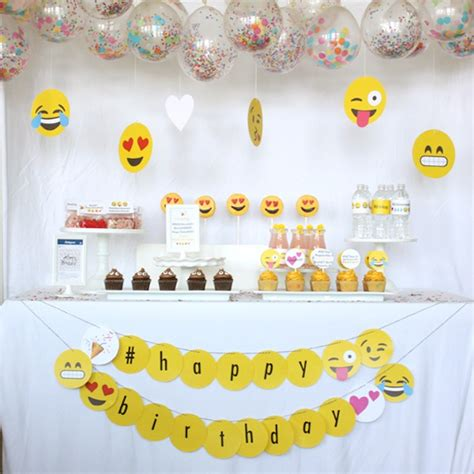 birthday themed emojis kara s party ideas instagram emoji themed teen birthday