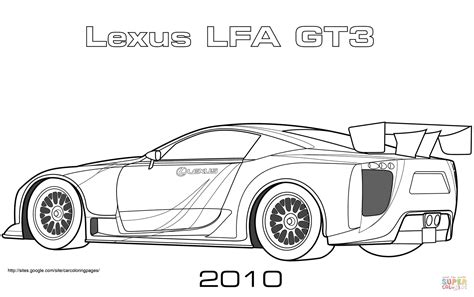 how to draw a lexus lfa 2010レクサスlfa gt3 ぬりえ