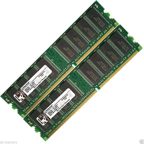 Ram Ecc 2 gb 2x1 gb pc2700 u ddr 333 mhz memory pc ram dimm 184 pin low density cl2 5 ebay