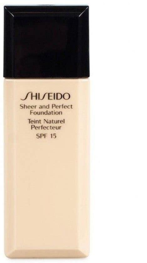 Foundation And Base Merk bol shiseido sheer and foundation foundation 30 ml wb40
