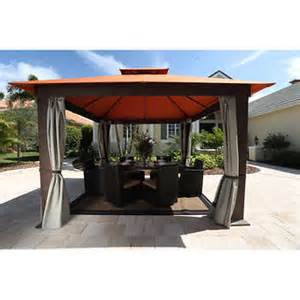 12 X 12 Gazebo Privacy Curtains by Seville 12 X 12 Soft Top Gazebo With Mosquito Netting