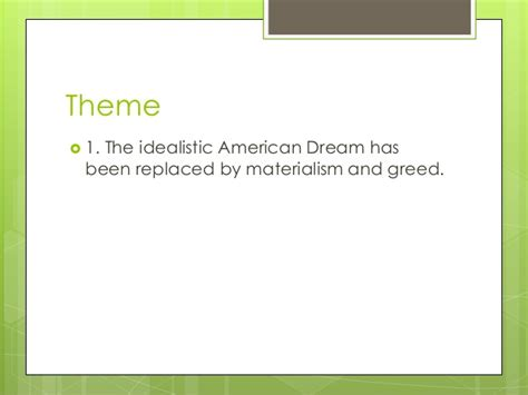 theme of greed in the great gatsby gatsby review