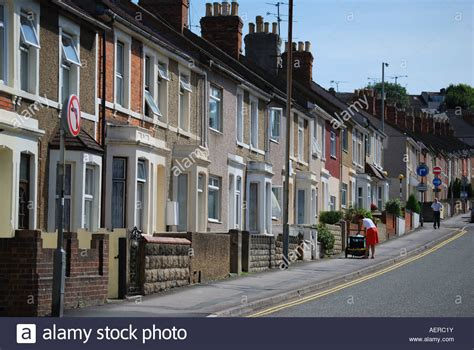 house to buy in swindon street of terraced houses swindon wiltshire england united stock photo royalty