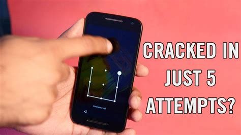 just 5 attempts can open android pattern lock latest android pattern lock can be cracked in just five attempts