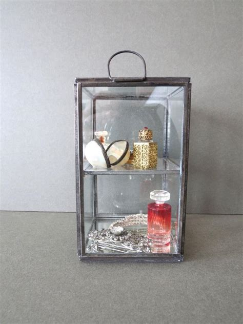 table top curio display case table display cabinet glass case jewellery trinket thimble