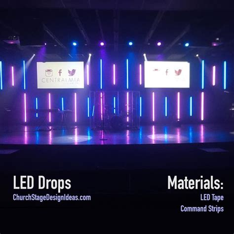 build your own stage lighting 50 best stage ideas images on church stage