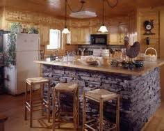kitchen rock island 1000 images about log home on log cabin