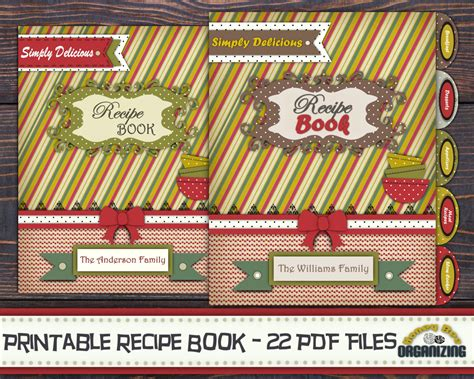 book themes pdf diy printable recipe book templates pdf 8 5x11 recipe