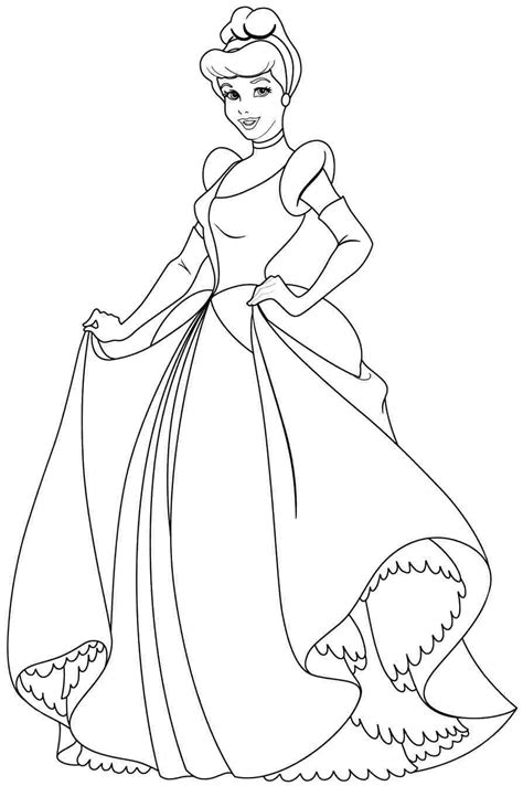 coloring pages of disney princesses disney princess cindirella coloring page cenicienta