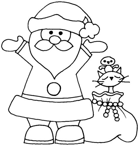 simple santa coloring page santa claus coloring pages