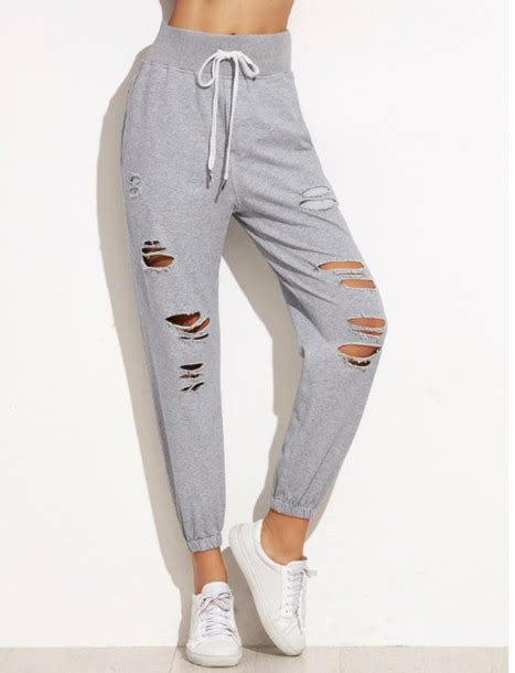 girls gray and black joggers pants pants girl girly girly wishlist grey sweatpants