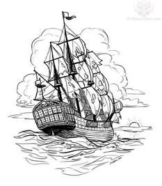 pirate ship outline kids coloring free kids coloring