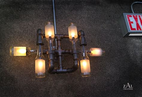 Wall Light L Beer Bottles Plumbing Pipe Fittings Cave Light Fixtures