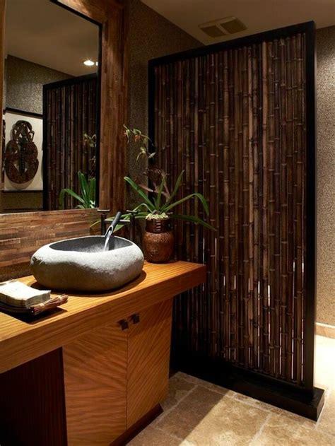 dekorasi rumah alami khas daerah tropis  bambu