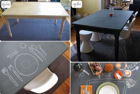 diy chalkboard kitchen table 10 diy chalkboard table designs for a fresh and new look