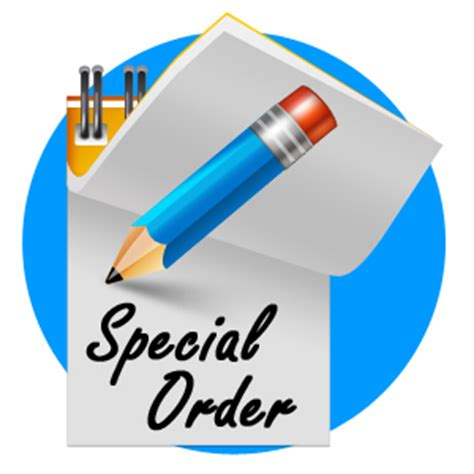 Special Order special order service