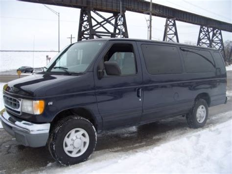 how cars run 1998 ford econoline e350 transmission control sell used 1998 ford e350 super duty 15 passenger van v10 automatic new tires runs great in