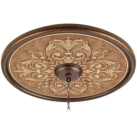 antiquity clay 24 quot wide bronze finish ceiling medallion