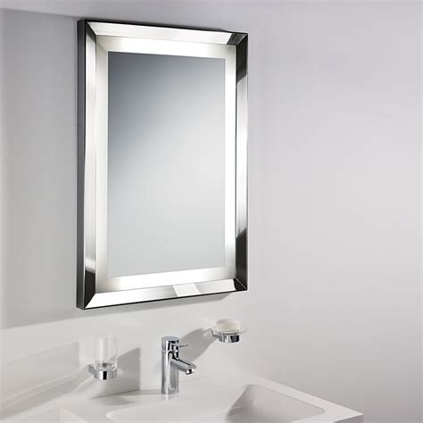 frame mirror in bathroom bathroom wall mirror chrome frame home design blog