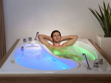 couple bathtub trautwein s yin yang couple bath integrates sound wave massage and color light