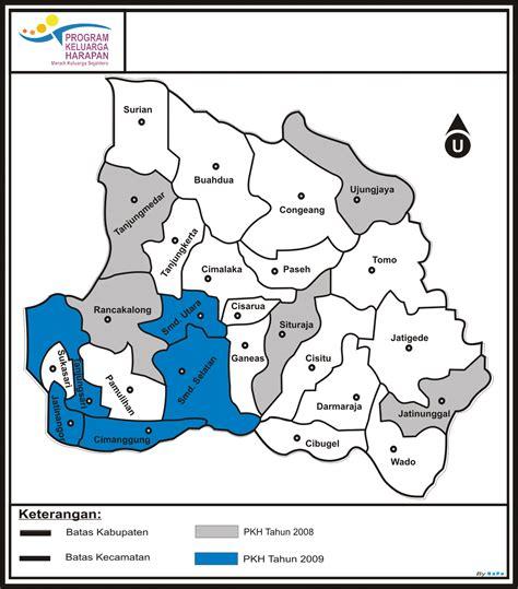 peta lokasi kecamatan peserta pkh program keluarga