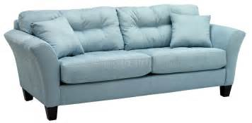 Light Blue Leather Sectional Sofa Light Blue Fabric Modern Sofa Loveseat Set W Wood Legs