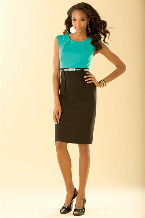 Dress 359 Cc metrostyle belted two tone ponte dress coupon save up to 20 in metrostyle couponkoo