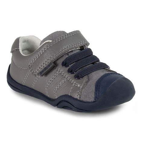 pediped baby shoes grip n go jake grey blue pediped footwear